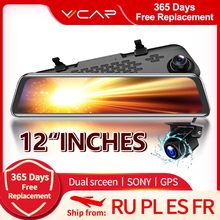 CAR Dvr Camera Driving Lens Video-Recorder Rearview-Mirror Dash-Cam VVCAR-V17 Dual 1080P