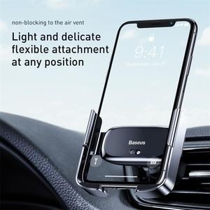 Image 3 - Baseus حامل هاتف السيارة تنفيس الهواء جبل دعم قوس سيارة شحن ل IP لسامسونج التلقائي سيارة صغيرة حامل هاتف الملحقات