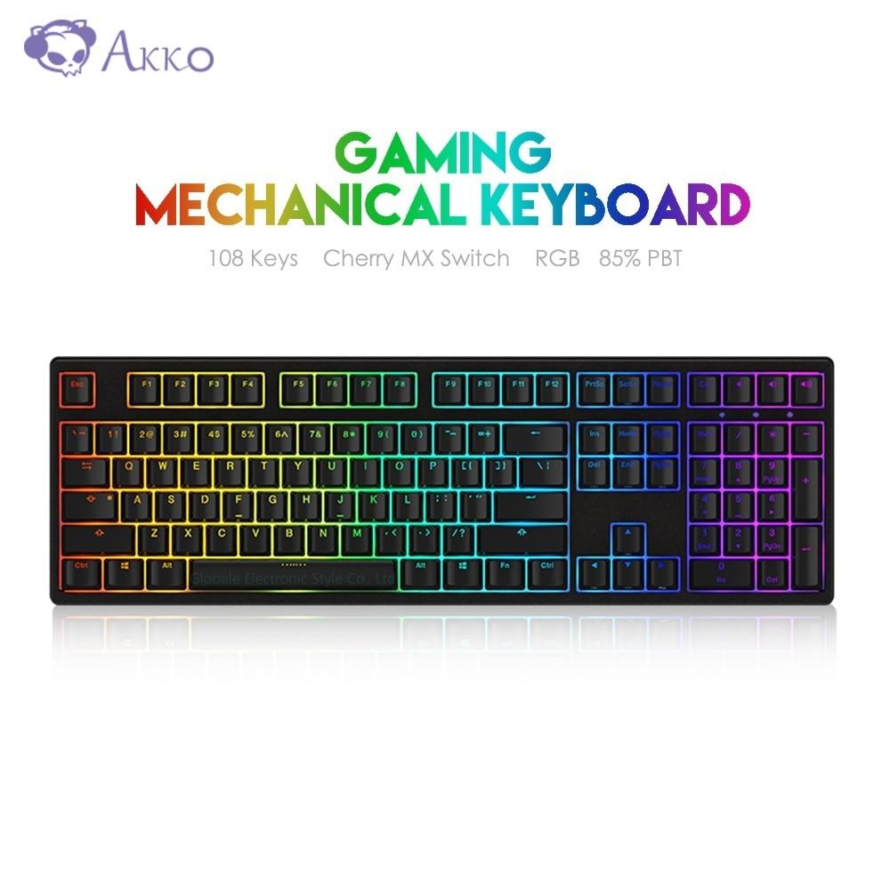 AKKO 3108S RGB Gaming Keyboard Mechanical Backlit Computer Gamer USB Wired Cherry MX Switch Full Key Programming 108 Keys