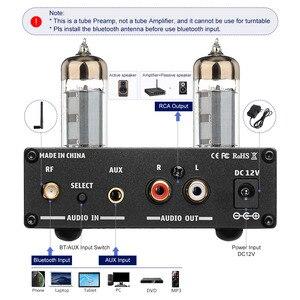Image 3 - AIYIMA 6K4 Tubo A Vuoto Amplificatore Preamplificatore Bluetooth 5.0 Bile Pre AMP Tubo A Vuoto Preamplificatore Con Alti Bassi Regolazione del Tono
