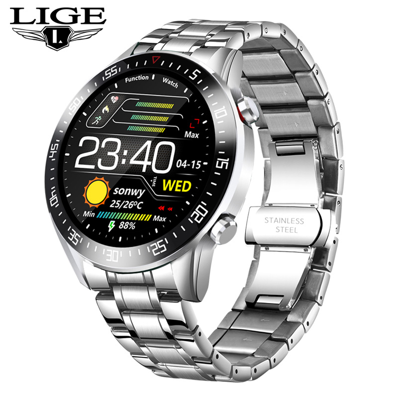 2020 New Steel Band Digital Watch Men Sport Watches Electronic LED Male Wrist Watch For Men Clock Waterproof Bluetooth Hour+box 11