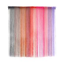 Cortinas de corda pátio net franja para porta tela da mosca janelas divisor corte ao tamanho tule decoração organza voile quarto linha