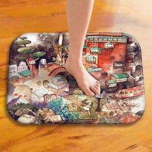 Image 3 - Tapis de sol épais en velours, tapis de sol décoratif pour hôtel, tapis de porte de cuisine, tapis de salle de bain.