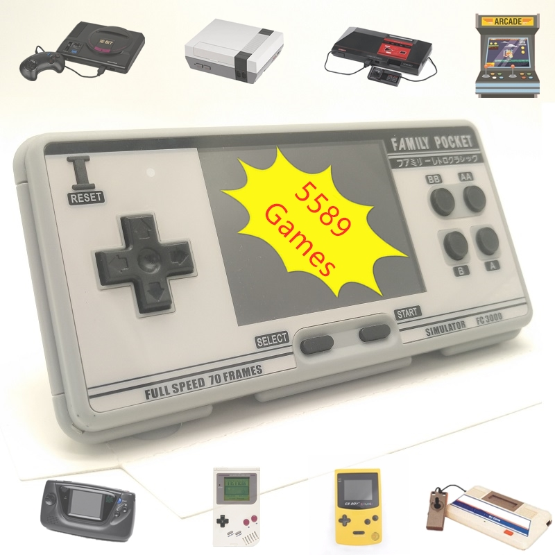Retro Handhled Game Console Portable Game Player with 8 Emulators 5589 Built-in Games for Nes For Genesis Support Save amp Load