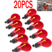 20 PCS Automatic Chicken Quail Pigeon Drinker Drinking Water Poultry Drinking Water Bowl Farm Farming Equipment