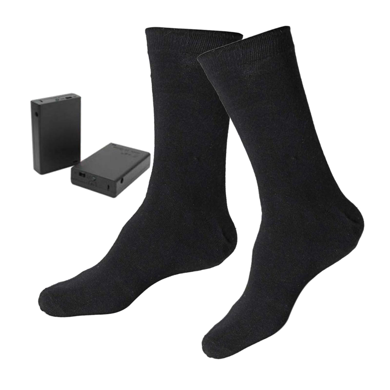 Electric Heated Socks Rechargeable Battery Winter Feet Warmer Men Women Outdoor