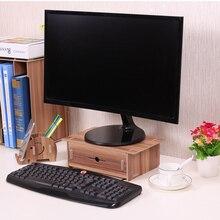 Офисный стол, органайзер для хранения канцелярских принадлежностей, органайзер для монитора, подставка, органайзер, деревянный с держателем для ручек, ящик для школы, дома