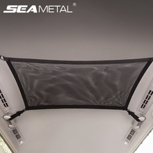 80cm*55cm Car Ceiling Storage Net Pocket Car Roof Storage Bag Zipper Polyester Mesh Pouch Auto Organizer for Stowing Tidying