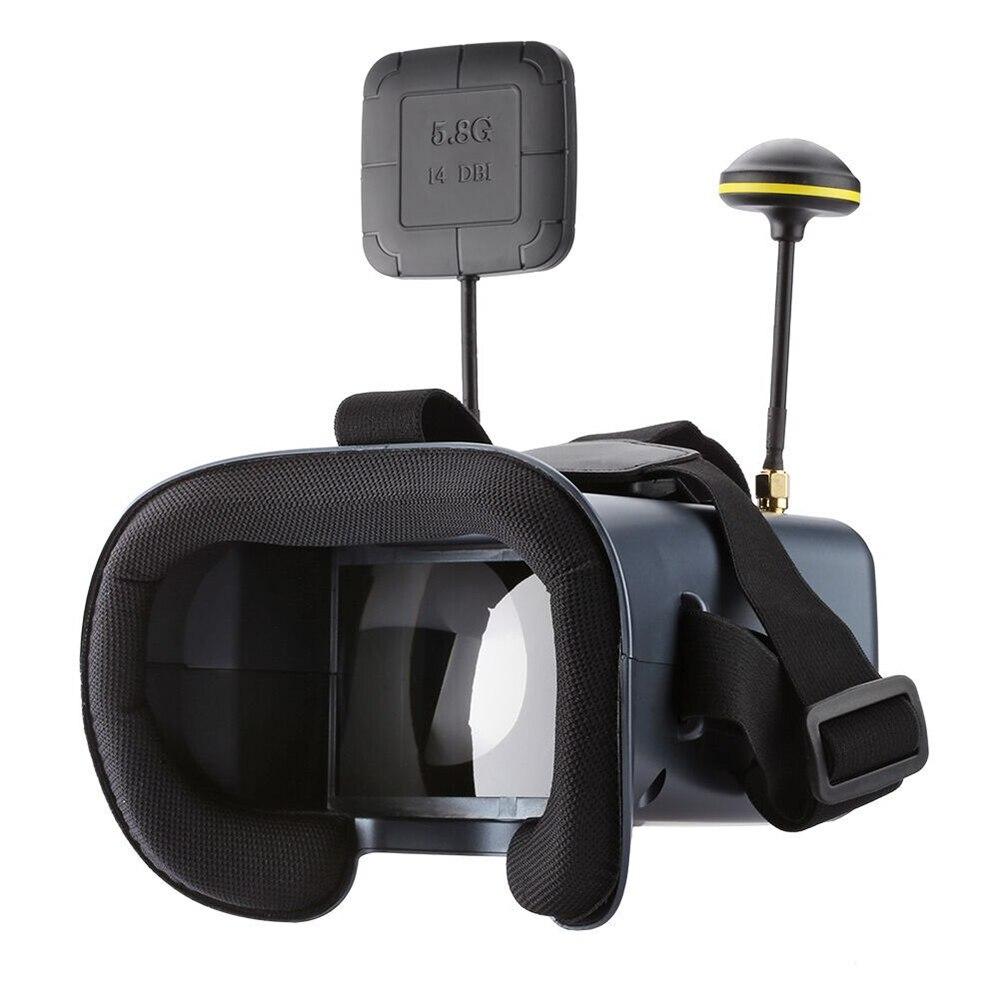 5.8G 40CH 4.3 pouces USB charge DVR diversité extérieure lentille transparente Portable avec sac VR lunettes léger FPV lunettes LST