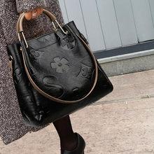 New lady's bag fashionable and large volume bucket bag woman's one-shoulder bag fashionable and all-match multi-color handbag