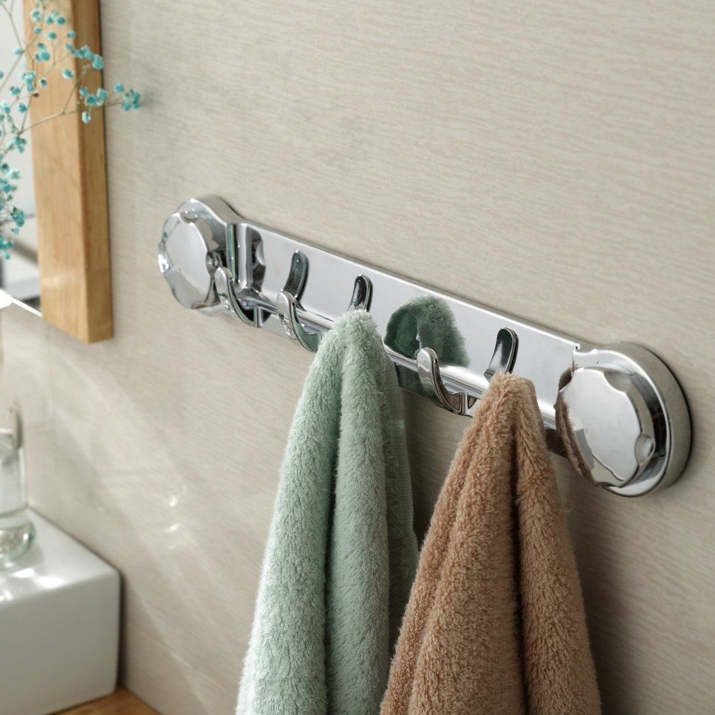 Multi-function Sucker Hook Wall Kitchen Holder Hanger Towel Robe Hooks Bathroom Chromed Strong Suction Accessories Removable