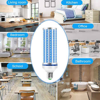 60W LED UV Germicidal Lamp UVC Smart Bulb For Home Remote Control Disinfection Lamp Light E27 LED Ultraviolet Light kill 99.99%
