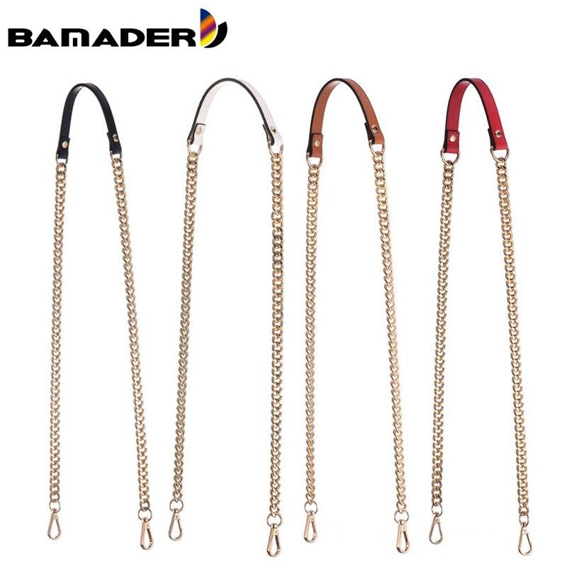 New Obag Short Shoulder Strap O Leather Bag Handles High Quality Metal Chain Mink Fur Handbag Chain Handle Bags Accessories Hot