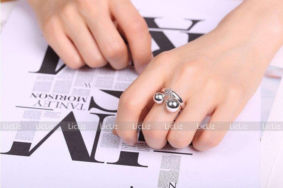 H47b8b2b6c95041aba1651d61fc881b798 LicLiz 2019 925 Sterling Silver Big Open Adjustable Ring for Women Men Plain White Gold Jewelry Joyas de Plata 925 Bijoux LR0329
