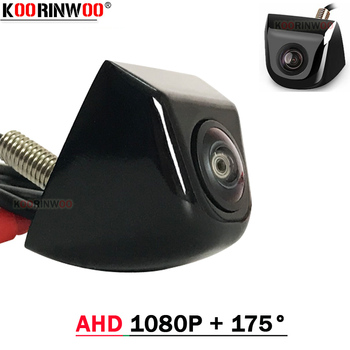 Koorinwoo AHD 1080P Car Camera 175 Degree Fish Eye Lens Starlight Night Vision HD Vehicle Rear View Camera Back Reverse Control image