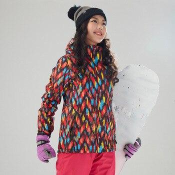 Осенне зимний новый стиль, водонепроницаемый Камуфляжный лыжный костюм большого размера, уличная одежда, Женское пальто