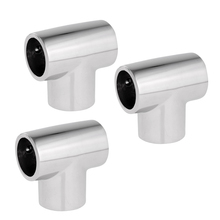 MagiDeal 3pcs Boat Yacht Hand Rail 1 25mm Tee - 316 Stainl Steel Fittings