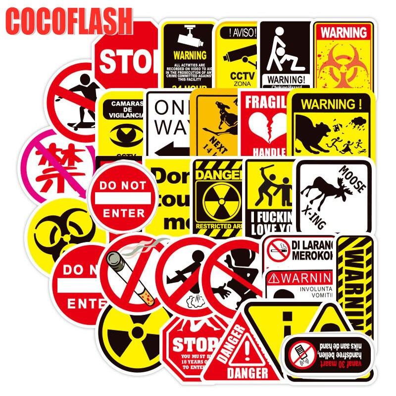 10/50Pcs/lot Cool Warning Graffiti Stickers For Laptop Skateboard Luggage Scrapbook Snowboard Motorcycle Car DIY TOY Stickers