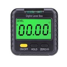 Mini inclinometro digitale magnetico scatola di livello misuratore di angolo Finder goniometro Base piccolo strumento di misurazione goniometro elettronico