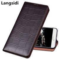 Bussiness genuine real leather magnetic holder phone bag case for Lenovo K5 Pro/Lenovo S5 Pro flip phone cover standing capa
