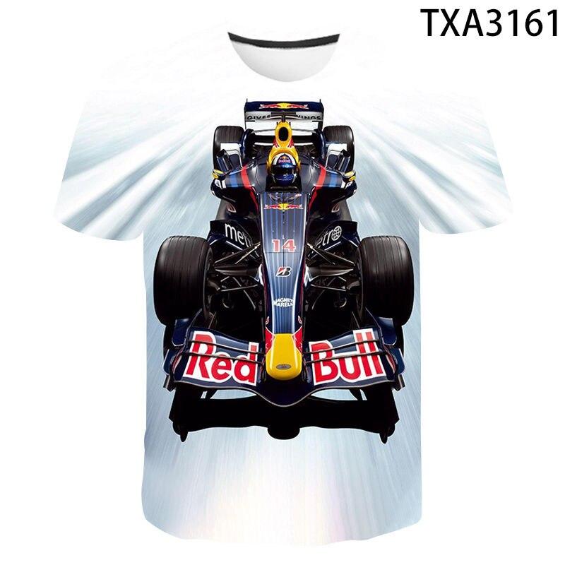Summer T Shirt Men Women Children Streetwear Short Sleeve Tees Tops Formula 1 Casual Boy Girl Kids Equation Racing Print T-shirt