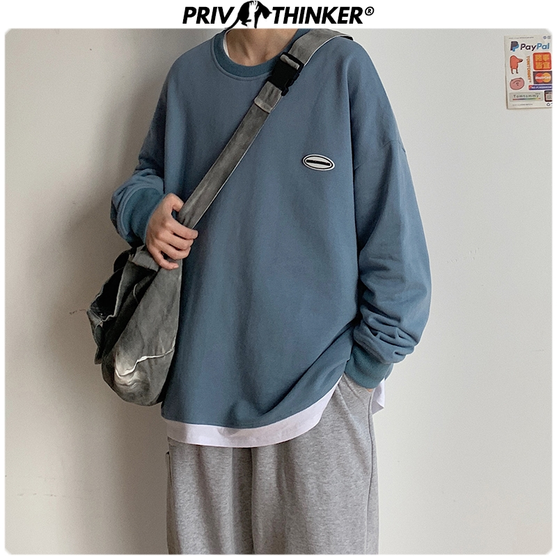 Privathinker Men Woman Colorful Print Spring Hoodies Men 2020 Fashion O-Neck Sweatshirt Male Streetwear Patchwork Clothing 5XL