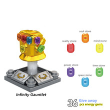 Avengers 4 Iron Man Thanos Infinity Gauntlet con 36Pcs Pietre Figures Building Blocks Giocattoli Per I Bambini Super Heroes Giocattoli(China)