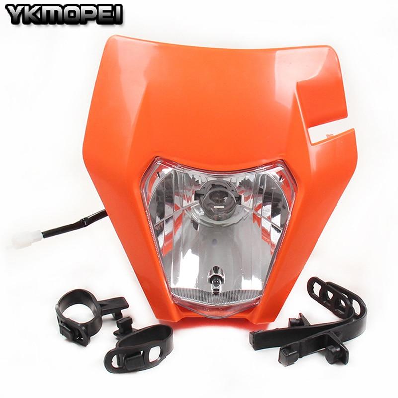 Motorcycle Headlight Headlamp For 2017 KTM SX EXC XCF SXF SMR Enduro Dirt Bike Motocross Supermoto H4 Bulb inside