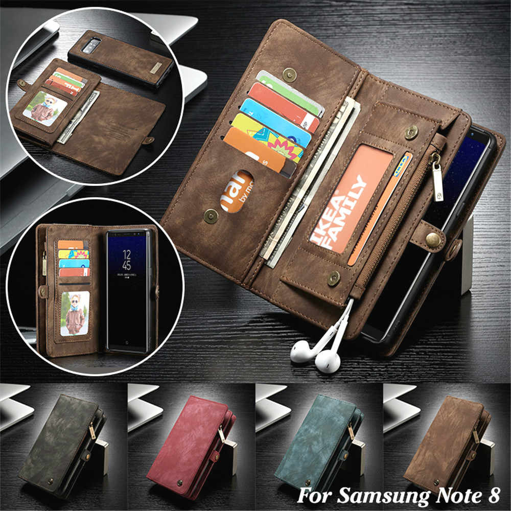 Leather Wallet Case for Samsung Note 10 8 9 S10 S9 S8 Plus S7 Edge Flip Cover for iPhone 11 Pro XS Max XR X 7 8 6 6S Plus Cases