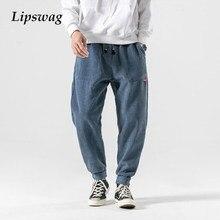 2020 streetwear moda masculina calças lápis de veludo outono casual sólido solto harem pant masculino do vintage hip hop joggers calças compridas