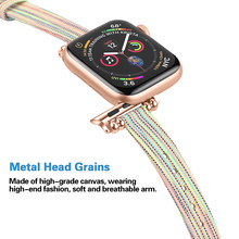Correa apple watch banda 38mm 42mm iWatch 5 4 banda de 40mm 44mm deporte Nylon pulsera apple watch pulsera 38mm 42mm Accesorios(China)