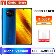 Versão global xiaomi poco x3 nfc 6gb 64gb 6gb/128gb smartphone snapdragon 732g octa núcleo 64mp quad câmera 6.67