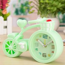 Portable Thickened Candy Color Creative Bicycle Alarm Clock Children Student Gift Birthday Crafts