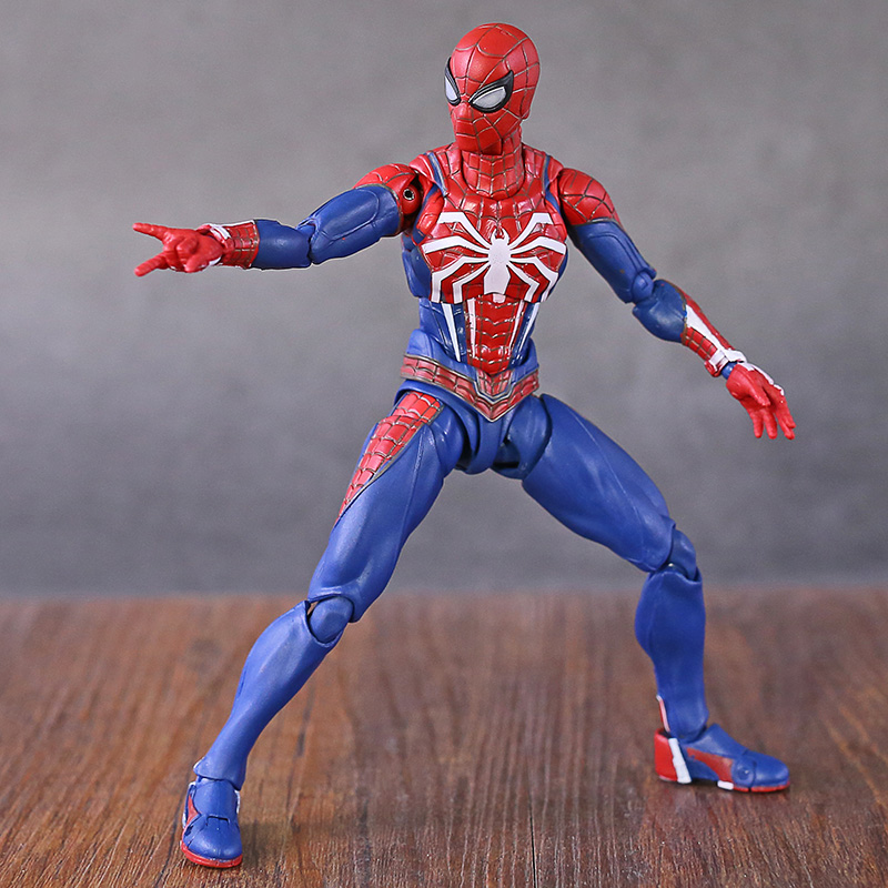 Marvel Legends Avengers Gameverse Spiderman Tom Holland Far From Home with Stand Action FigureAction & Toy Figures   -