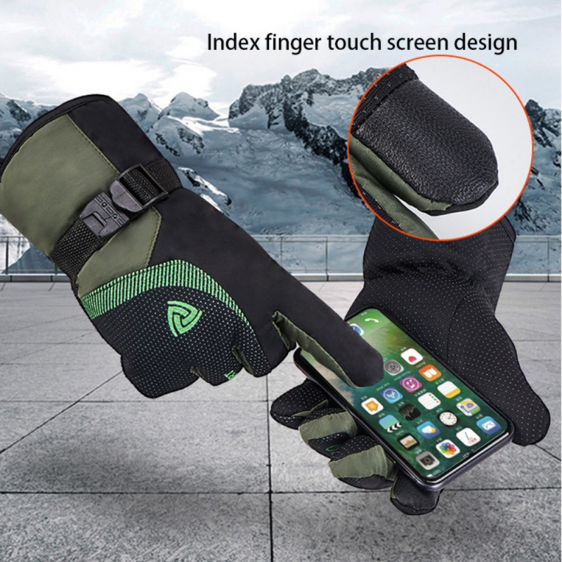 Men Women Popular Winter Snow Gloves Warm Waterproof Windproof Fleece Snowboard Motorcycle Riding Ski Gloves Touch Screen Glove