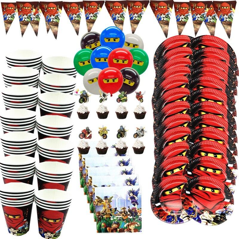 116 шт., декоративные ниндзя предметы для детской вечеринки