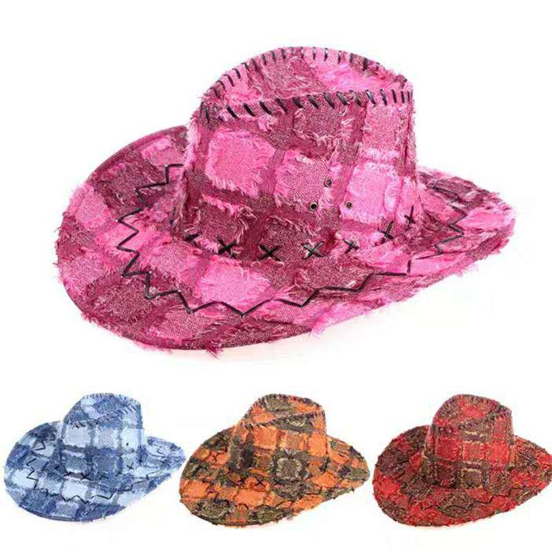 Man Women Western Cowboy Hats Knight Hat Outdoor Performances Tourist Caps