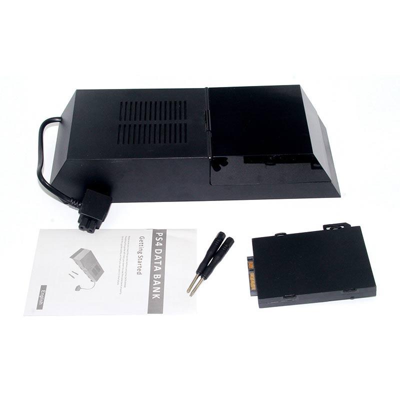 Data Bank Plus Storage Capacity Hard Drive External Box for Nyko PS4 Playstation 4 NC99
