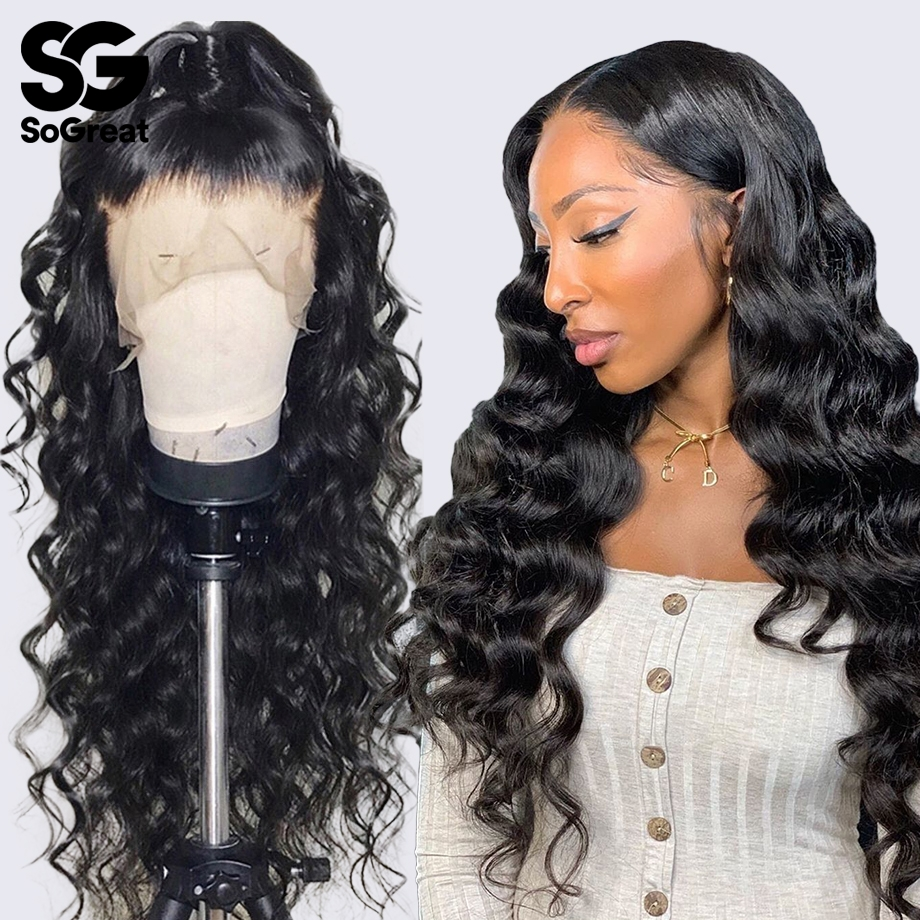 Loose Body Wave Lace Front Human Hair Wigs Short Long Wig For Black Women Brazilian Wavy Preplucked With Baby Hair 13x4 HD Remy