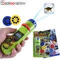 Balleenshiny eltern-kind-Interaktion Puzzle Frühen Bildung Leucht Spielzeug Tier Dinosaurier Kind Rutsche Projektor Lampe Kinder Spielzeug