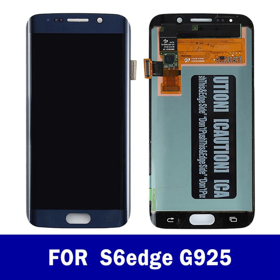 100% Original LCD For Samsung Galaxy S6 edge LCD Display G925 G925I G925F Touch Screen Digitizer Assembly With Frame image