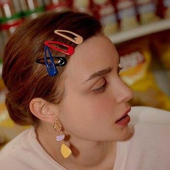 10/20/30/40 New Women Girls Cute Colorful Waterdrop Shape Hairpins Sweet Hair Clips Barrettes Slid Clip Fashion Hair Accessories 2