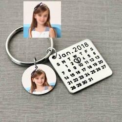 День отцов распродажа, личный календарь брелок, подпись календарь брелок ручной штампованный календарь, дата выделена с сердцем