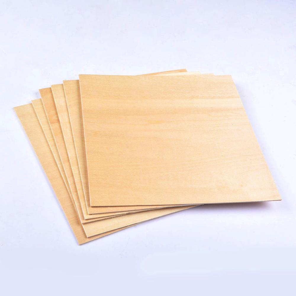 5pcs 200x200x1.5mm Unfinished Craft Basswood Wooden Sheets For DIY Model Making & Crafts