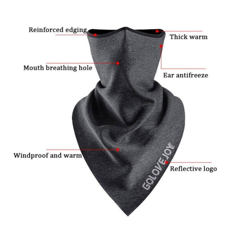 Велосипедная маска для лица, зимняя тренировочная маска, флисовая накидка для бега, езды на велосипеде, для шеи, теплый треугольный шарф, бан...
