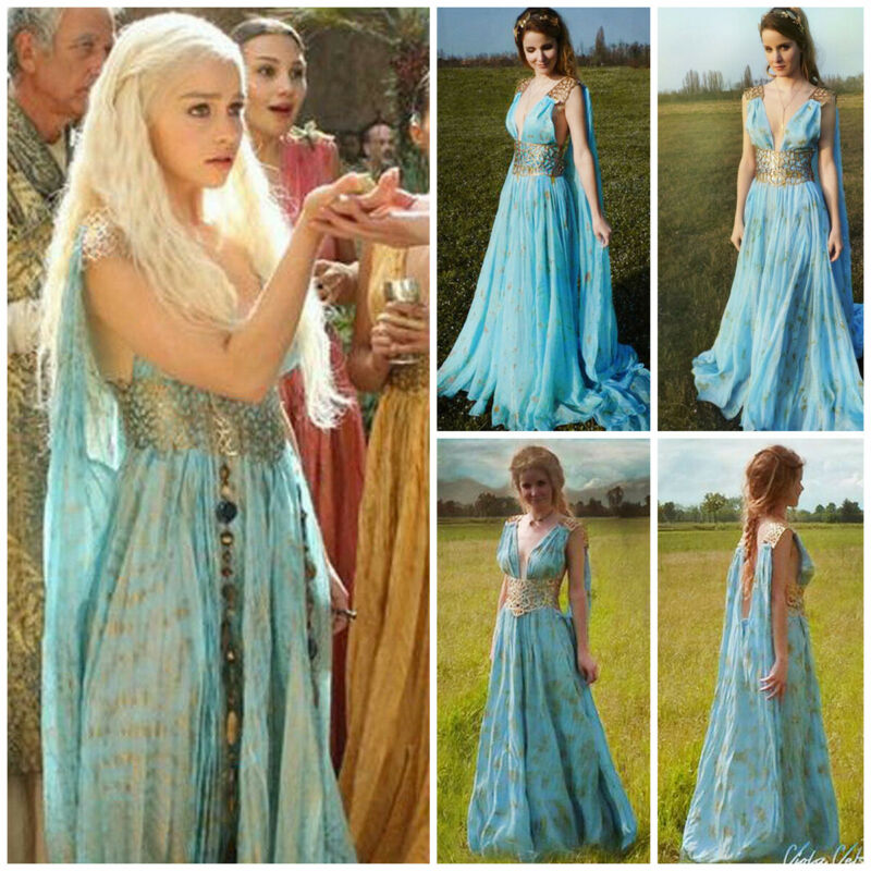 2020 Festival New Mother Of Dragons Game Of Thrones Daenerys Targaryen Costume Long Maxi Dress Hallowmas Party Cosplay Costume