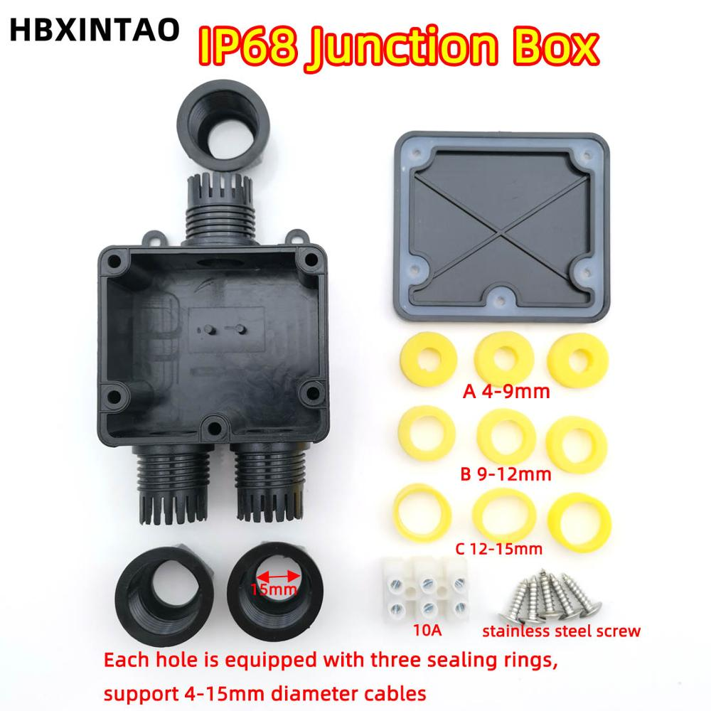 1 into 2 Industrial waterproof electric wiring junction box 10A terminal box