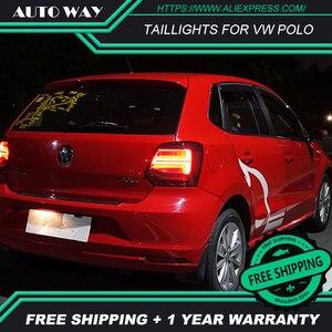 Image 5 - Kiểu Dáng Xe Đuôi Đèn Dành Cho VW Polo Đèn Hậu 2011 2017 Polo Họa Tiết Rằn Ri Nét Ta 016RAR Led Đuôi Đèn Polo Đèn Hậu Phía Sau thân Cây Đèn