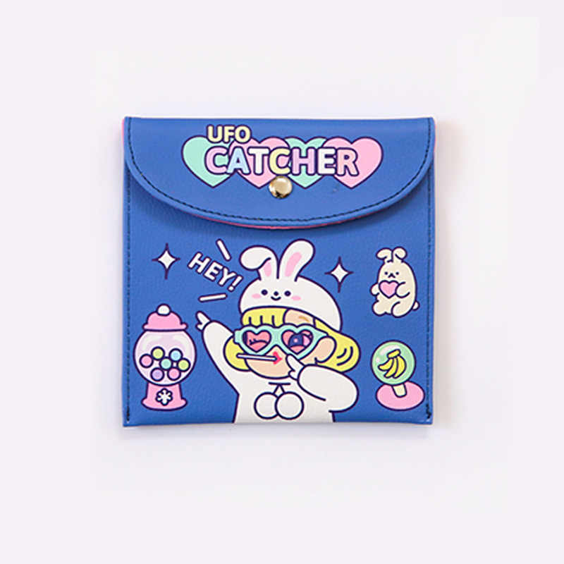 Bentoy メイクアップバッグ Milkjoy 女の子衛生バッグユニコーンウサギの漫画のパターンかわいいかわいい化粧品袋