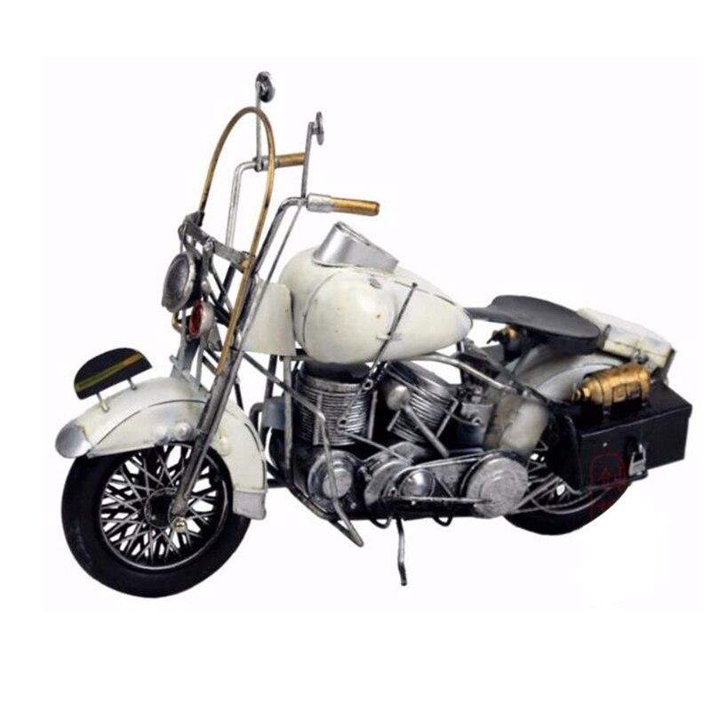 Décorations pour la maison fer artisanat rétro métal voiture moto modèle créatif rétro moto Mini décorations pour la maison